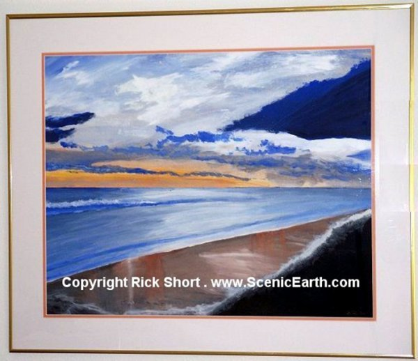 Morning Glory - An original acrylic painting of a morning sunrise over the ocean